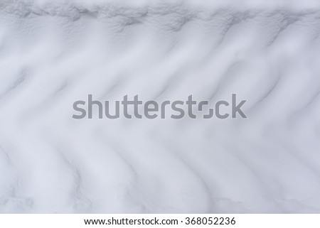 Truck tire tracks on snow. Background and texture. - stock photo