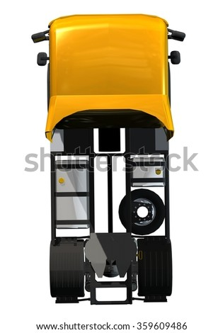 truck top view - stock photo