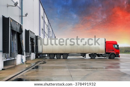 Truck, transportation - stock photo