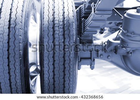 truck tyre close up