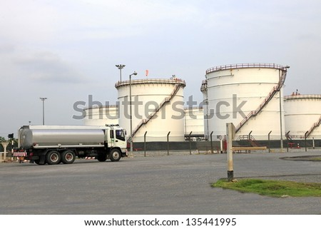 Truck With Fuel Tank