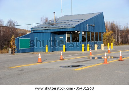 Trucking Weigh Station - stock photo