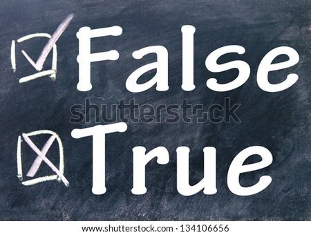 true and false choice - stock photo