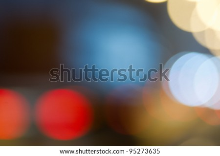True bokeh effect - stock photo