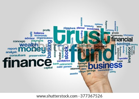 Trust fund concept word cloud background - stock photo