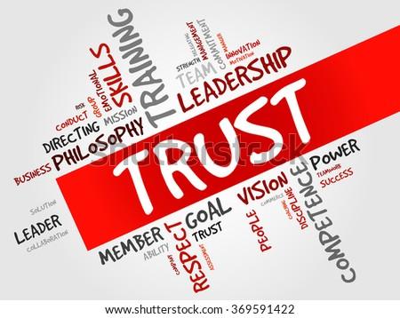 TRUST word cloud, business concept - stock photo