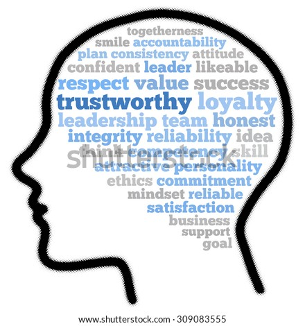 Trustworthy Word Cloud Concept Stock Illustration 309083555