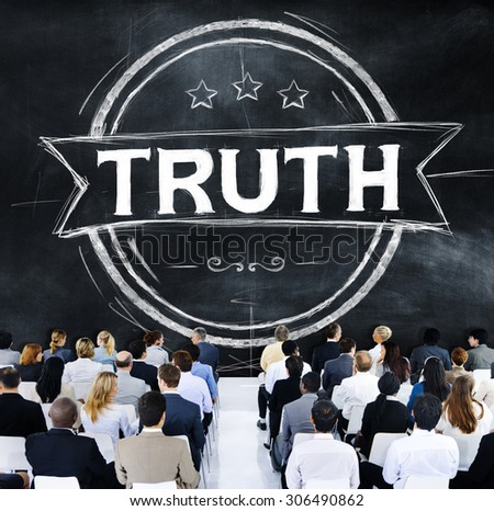 Truth Belief Faithfulness Honest Honorable Concept - stock photo