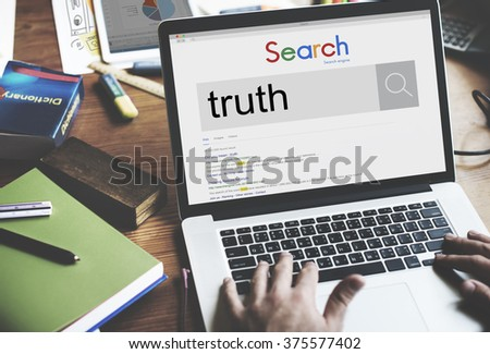 Truth Fact Real Trust Honest Truthfulness Concept - stock photo