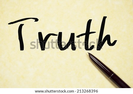 truth word write on paper  - stock photo