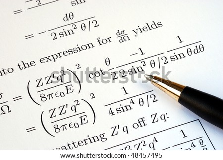 Try to solve some complicated mathematics questions - stock photo