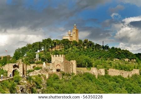 Tsarevets Fortess in Veliko Turnovo, Bulgaria - stock photo