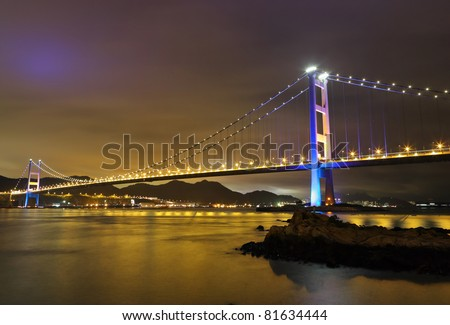 Tsing Ma Bridge night view