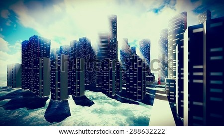 tsunami devastating city stock illustration 288632222 shutterstock