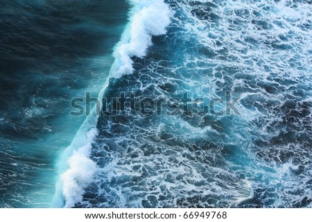 tsunami wave. - stock photo