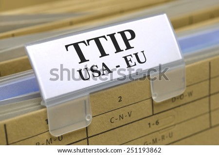 TTIP free trade agreement between USA and Europe - stock photo