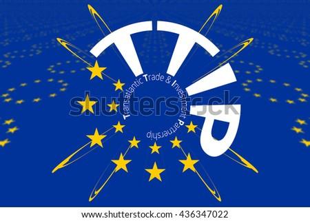 Europe flag dark blue stock illustration 422765890 shutterstock ttip 13 stars transatlantic trade and investment partnership symbol publicscrutiny Image collections