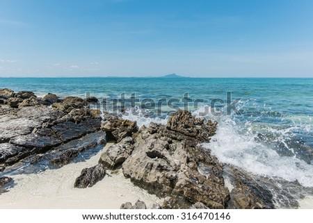 Tub beach krabi Thailand - stock photo