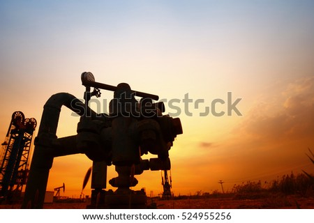 Tube and valve, oil industry equipment