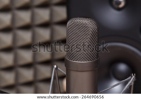 Tube microphone, professional microphone, recording studio