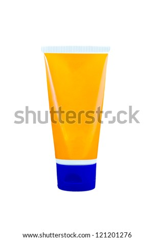 Tube Of Cream Or Gel cosmetic container on Black background - stock photo