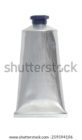 Tube of moisturizer isolated with clipping path over white background. Clipping path included - stock photo