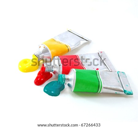 Tube of watercolor - stock photo