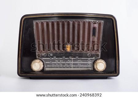 Tube Radio from the 1950s - stock photo