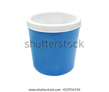tube-shaped ice cooler  isolated on white background with clipping path.