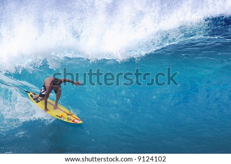 tube surfer Reef Macentosh - stock photo