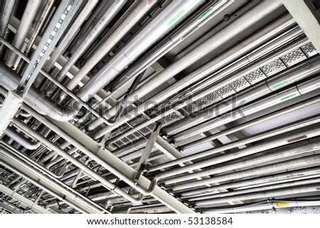 Tubes, may be used as industrial background - stock photo