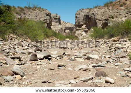 Tuff Canyon - stock photo