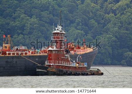 Tug on the Hudson - stock photo