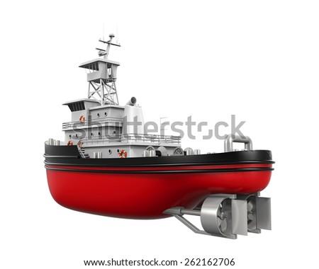 Tugboat Isolated - stock photo