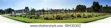 Tuileries Gardens - Paris, France, - stock photo