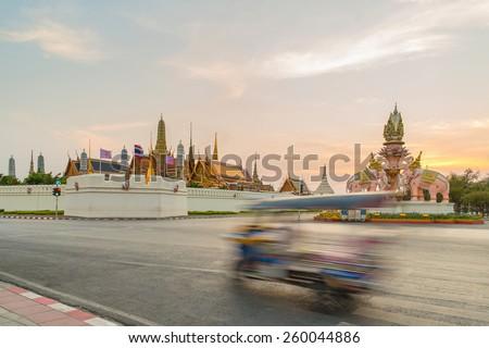 Tuk tuk for passenger cars. To go sightseeing in Bangkok. - stock photo