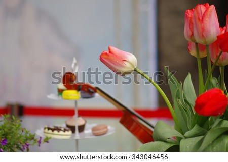 Tulips and the violin, cake