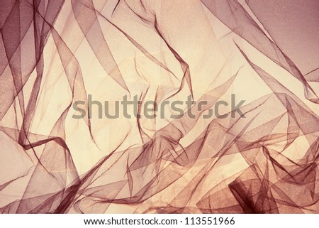 tulle fantasy background in yellow and golden colors - stock photo
