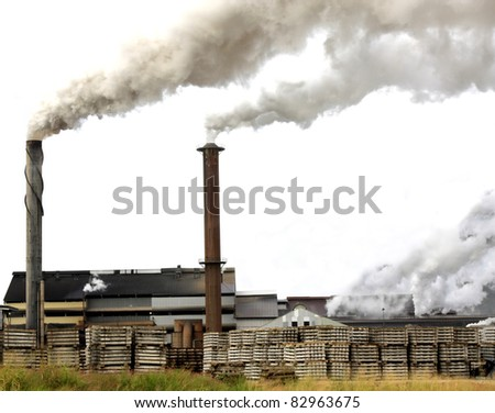Tully sugar mill in North  Queensland Australia - stock photo