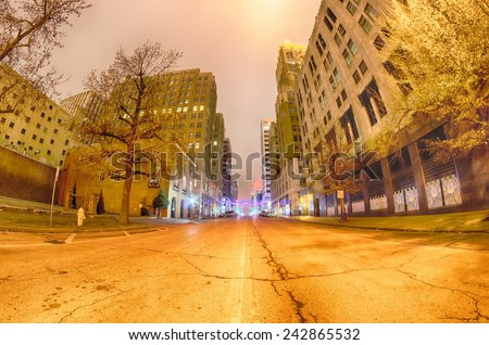 tulsa city skyline around downtown - stock photo