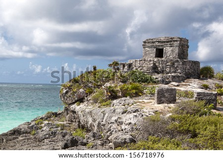 Tulum Mayan Ruins. Yucatan, Mexico.  - stock photo