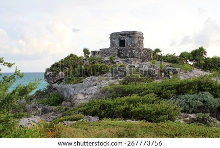 Tulum ruins in Mexico - stock photo