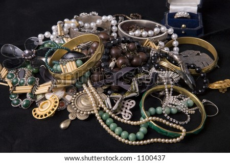 Tumble of jewelry