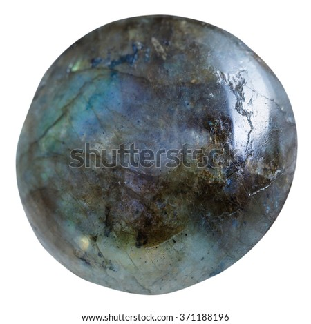 tumbled labradorite natural mineral gem stone isolated on white background