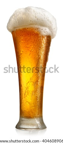 Tumbler with beer - stock photo