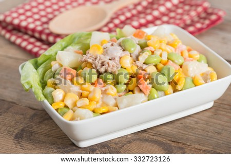 Tuna corn salad.
