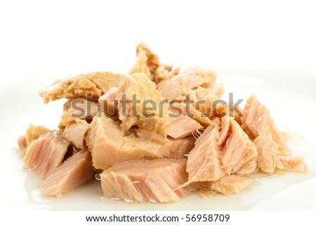 tuna fish closeup - stock photo