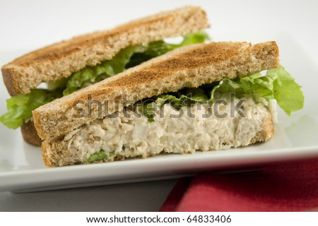 Tuna-fish sandwich - stock photo