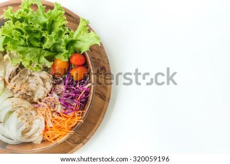 Tuna salad dish healthy food - stock photo