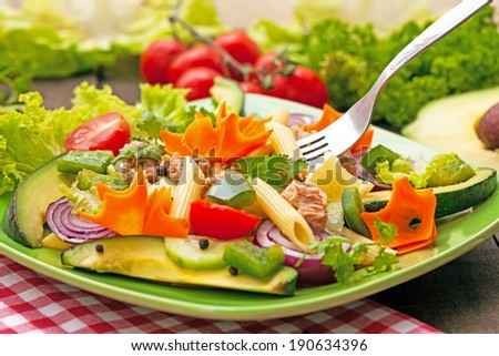 tuna salad is good for your health - stock photo